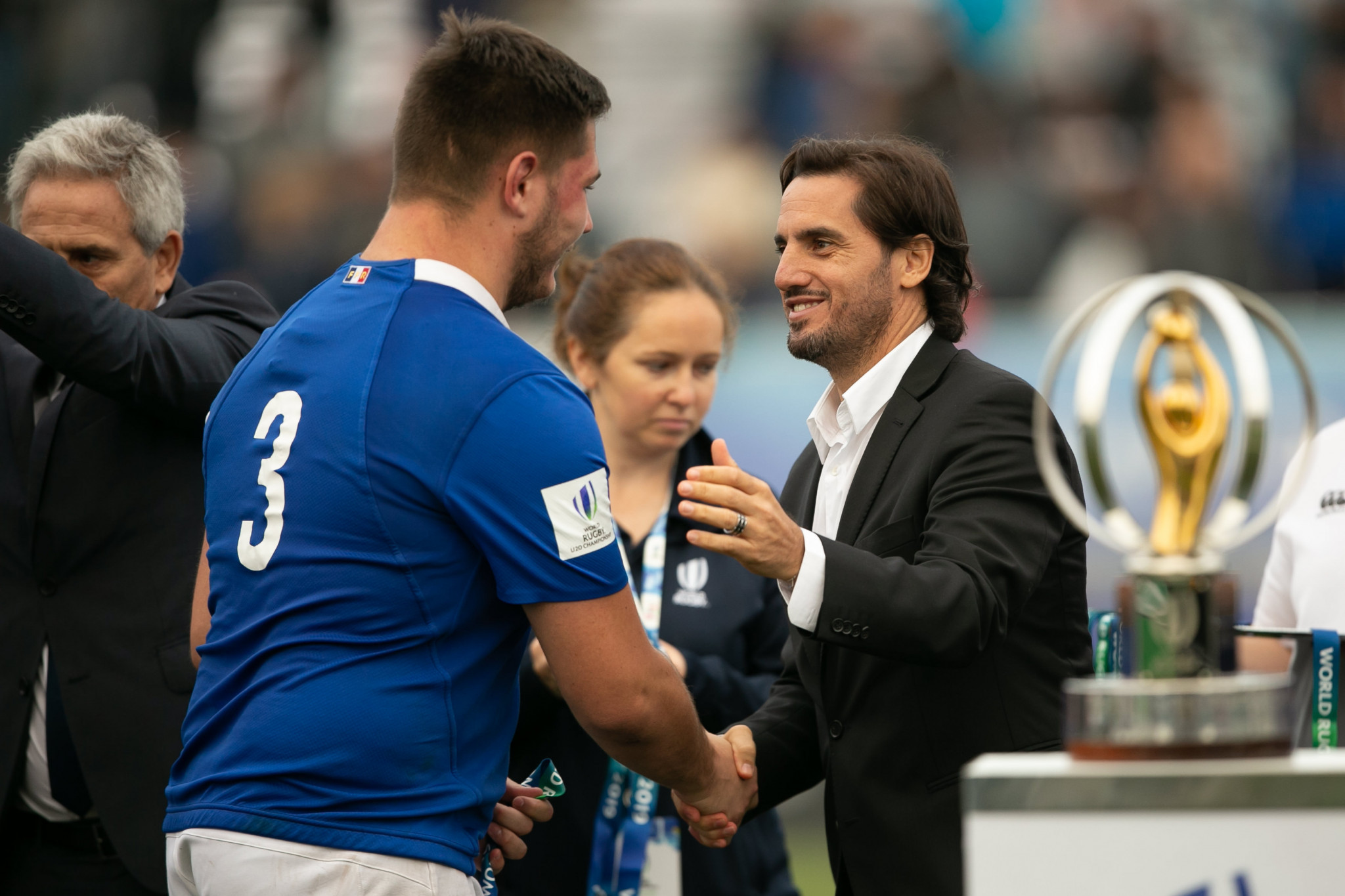 Agustín Pichot, right, had questioned the voting system, which gives Tier 1 nations three votes but others, such as Fiji and Georgia, only one ©Getty Images