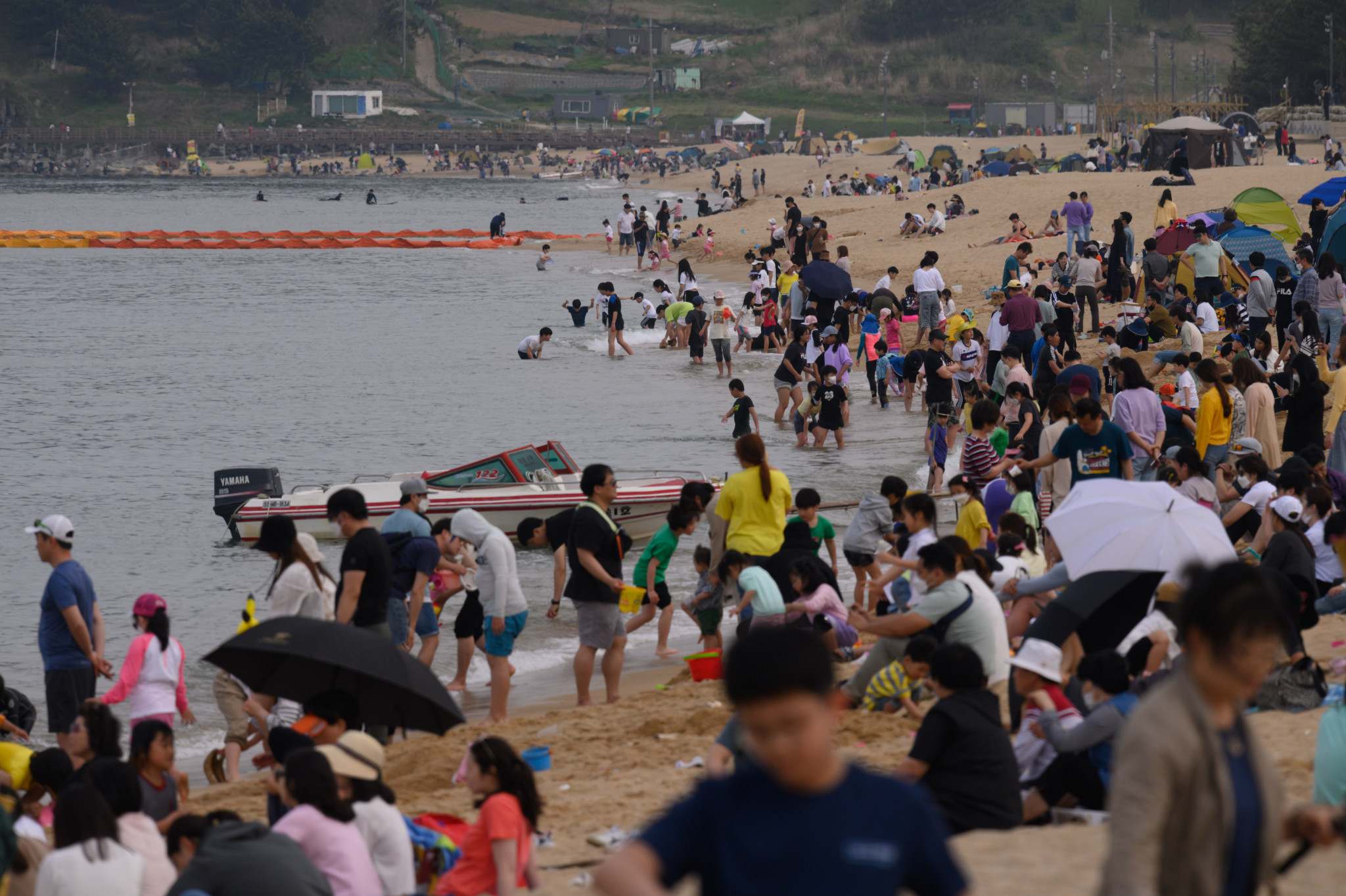 South Korea has reported few new COVID-19 cases lately and many headed to the beach this weekend ©Getty Images