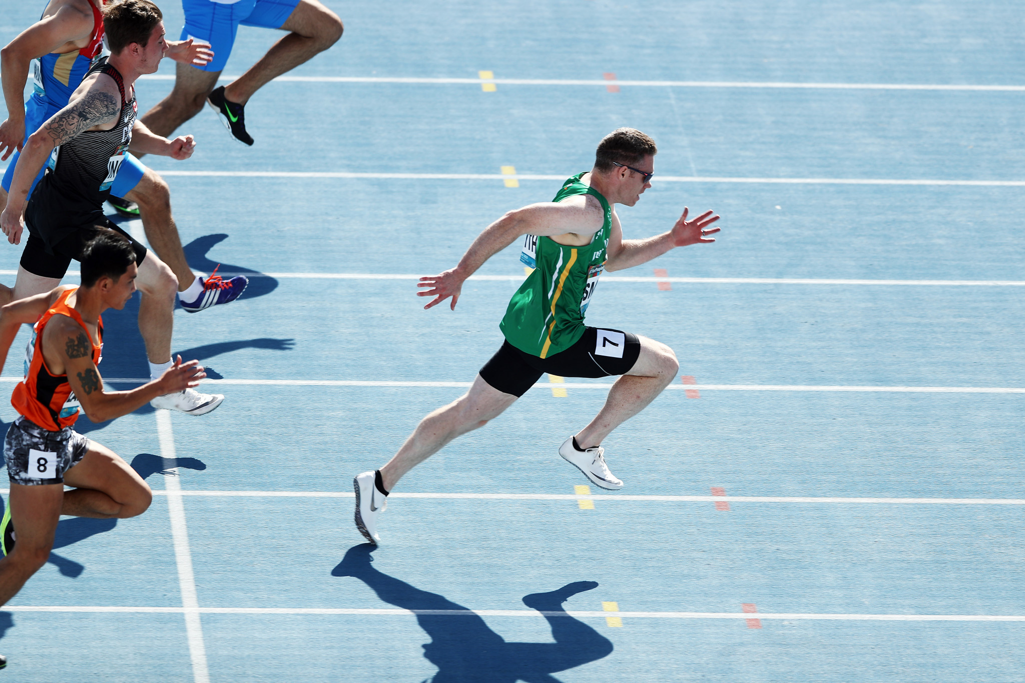 Jason Smyth has been dominant in the men's T13 100m and 200m events ©Getty Images