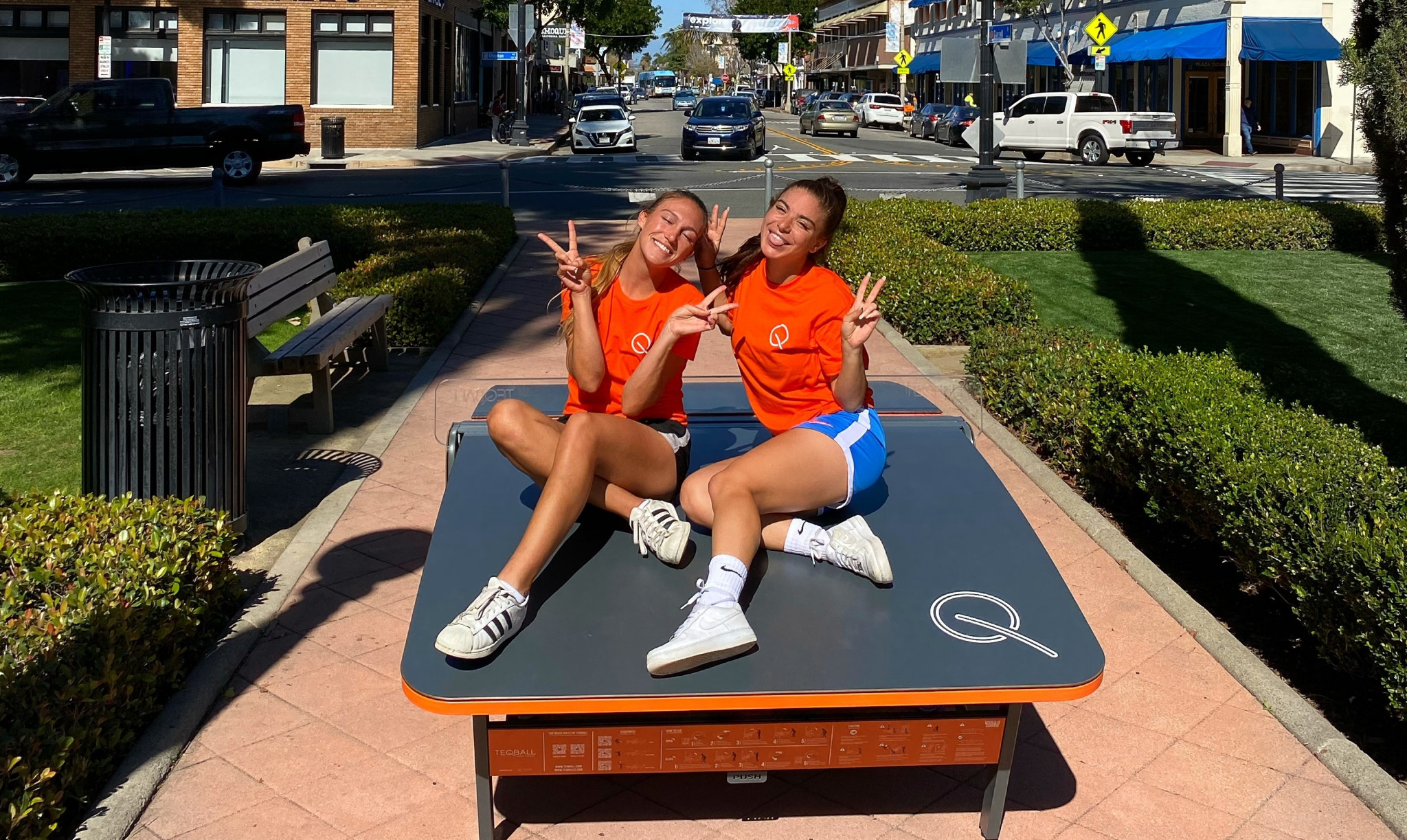 Teqball pair praise sport's level playing field for men and women