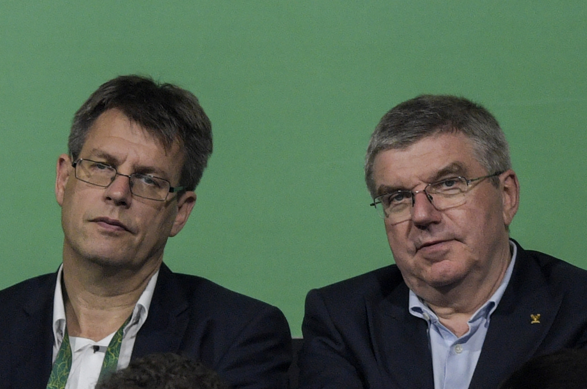 ITTF President Thomas Weikert, left, has come under fire from two of his most senior officials ©Getty Images