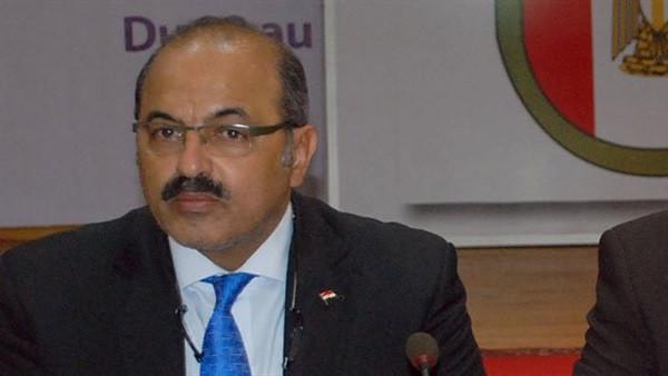 Egyptian Olympic Committee President Hesham Mohamed Tawfeq Hatab announced the 12-month plan ©EOC