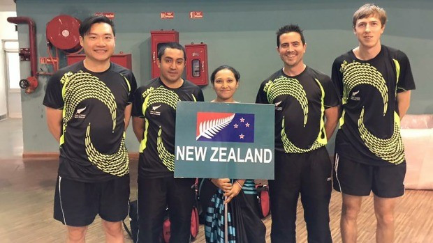 new zealand commonwealth games table tennis team