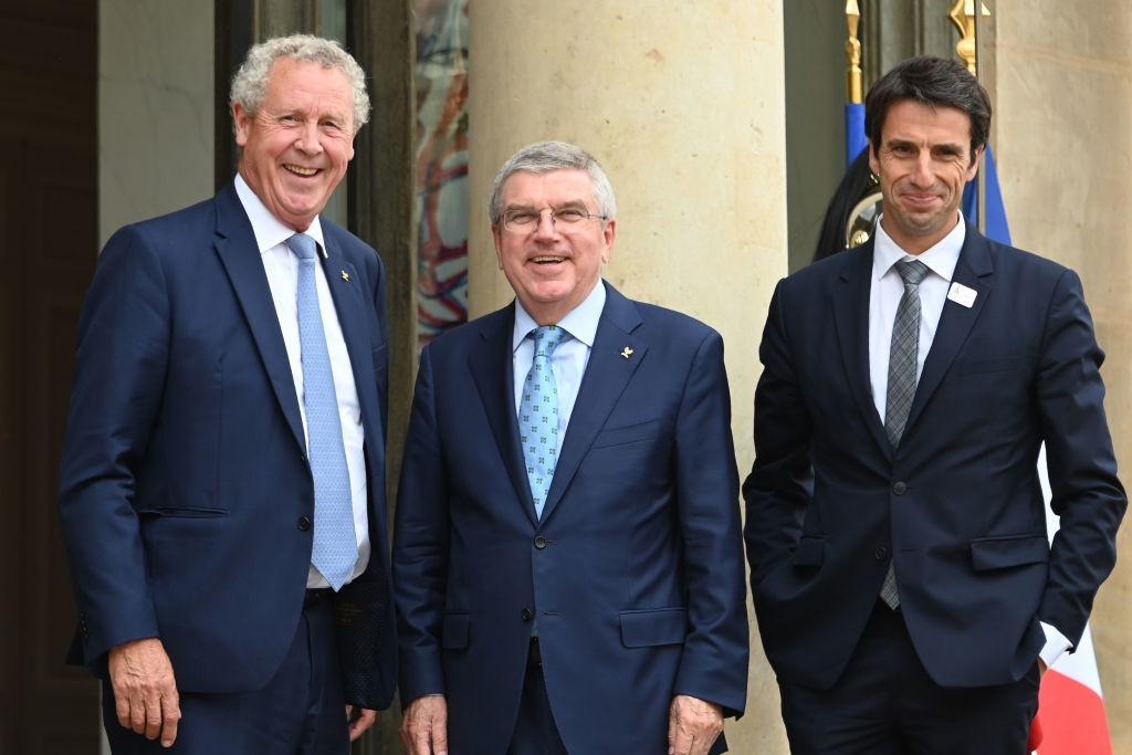 Guy Drut, left, was criticised by Paris 2024 Coordination Commission chair and fellow IOC member Pierre-Olivier Beckers-Vieujant following comments he made in an interview ©Getty Images