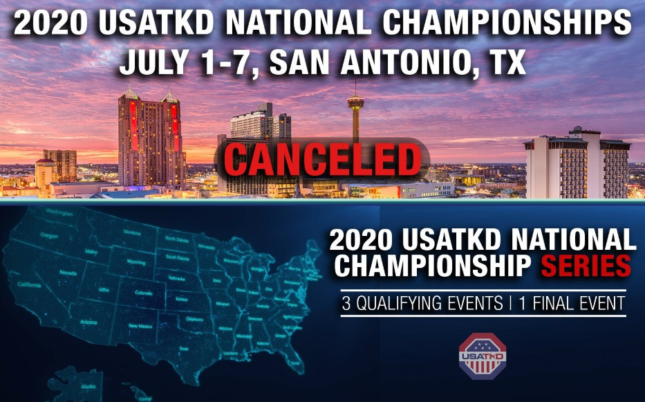 USA Taekwondo has cancelled its national Championships in July but hopes to hold a replacement series later in the year if it safe to do so ©USA Taekwondo