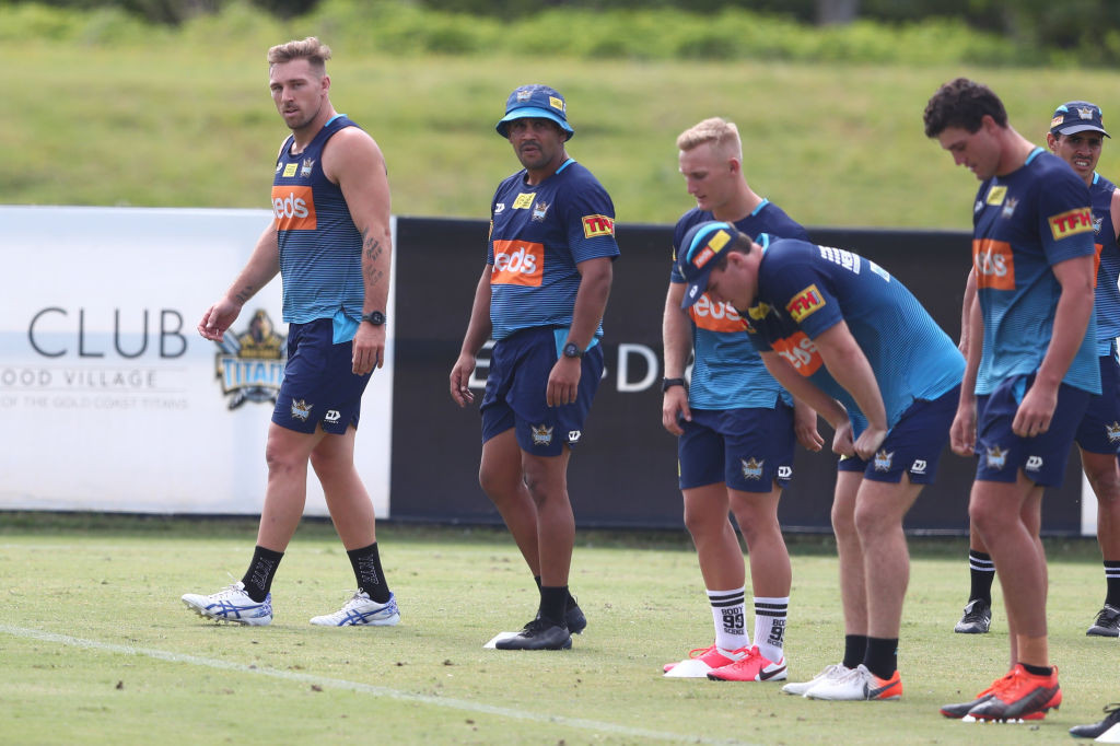Three Gold Coast Titans players stood down as vaccination policy causes furore in NRL