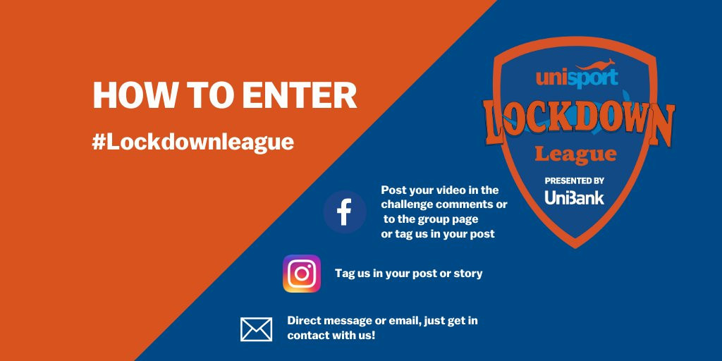 The Lockdown League asks athletes to get involved with challenges ©UniSport Australia