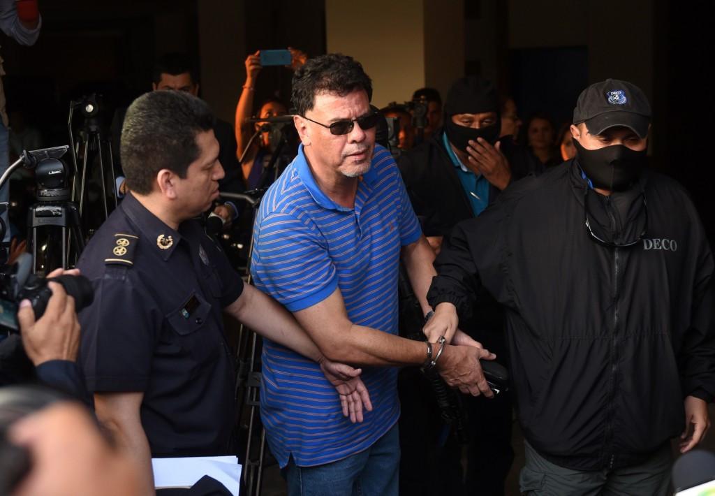 Reynaldo Vásquez following his arrest in El Salvador ©Getty Images