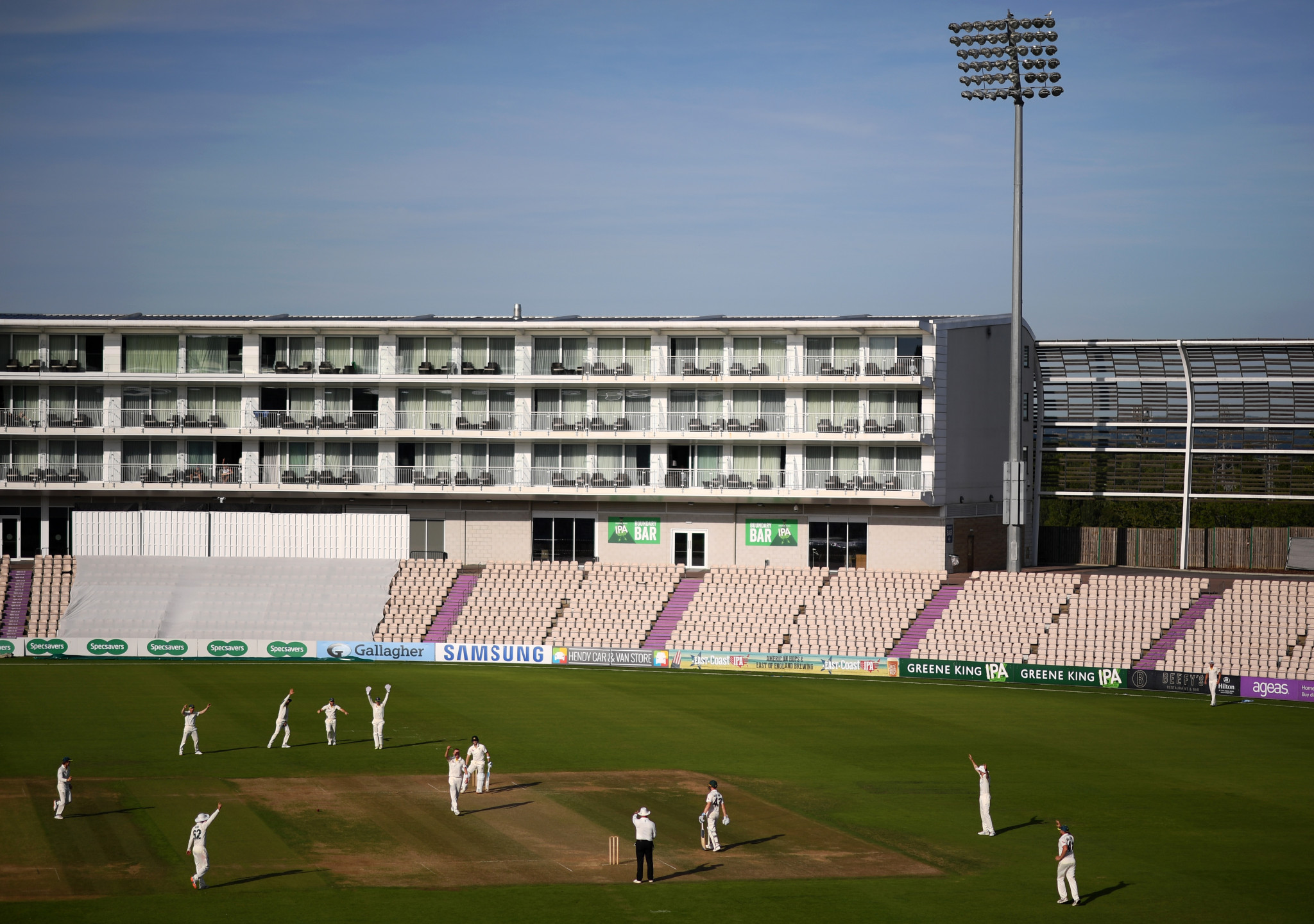 It England, it is hoped that international cricket can soon be played at venues with on-site hotels like the Ageas Bowl ©Getty Images