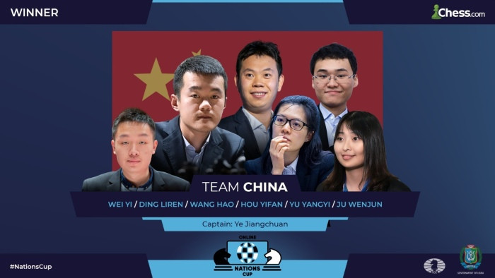 China took the title in the FIDE Online Nations Cup after their superfinal with the United States ended in a draw ©FIDE