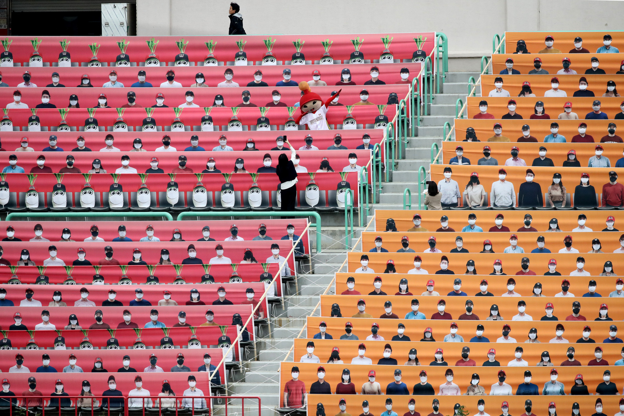 Baseball matches have resumed in South Korea but in empty stadiums ©Getty Images
