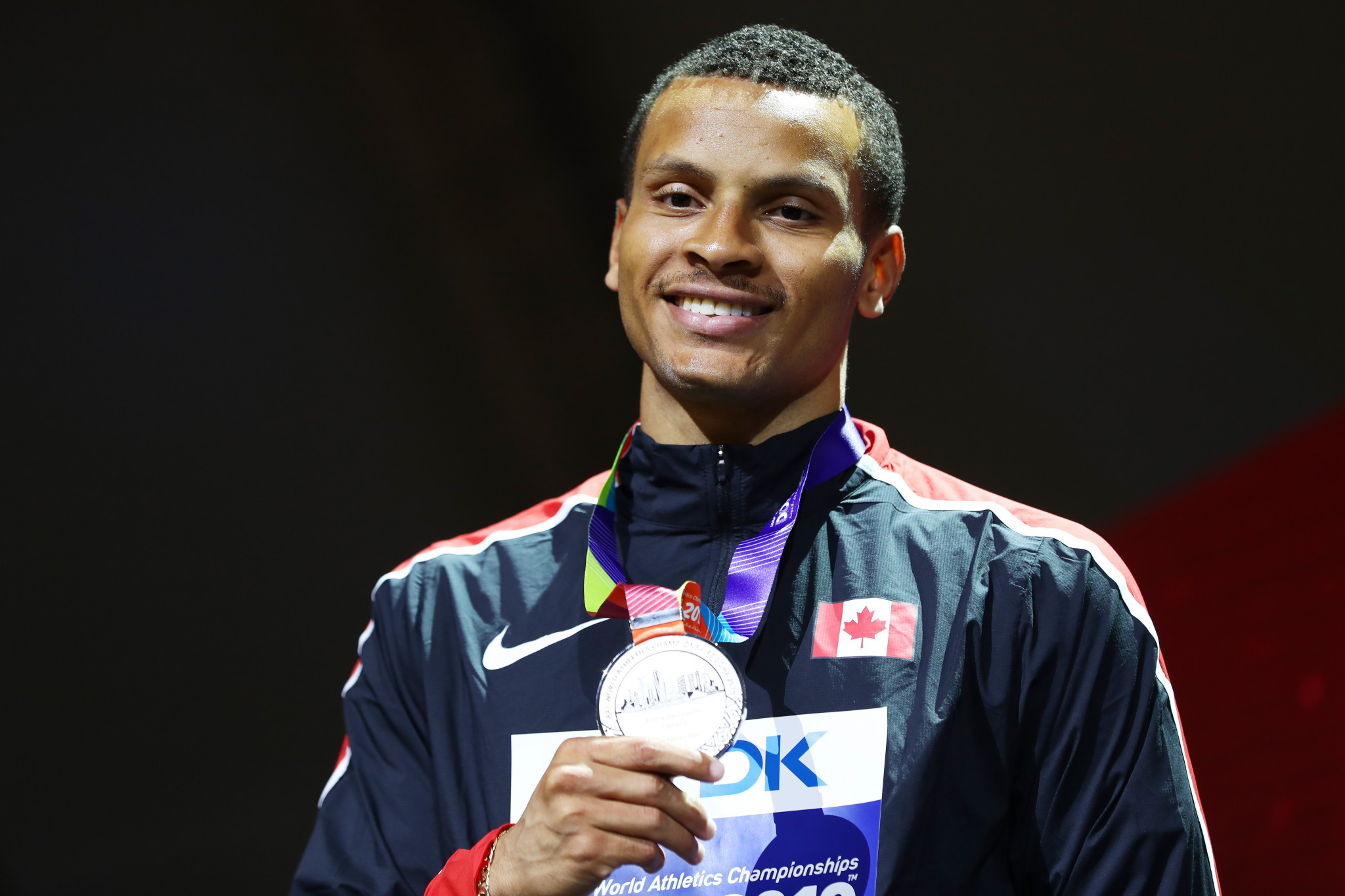 Andre De Grasse won silver and bronze medals at last year's World Championships ©Getty Images