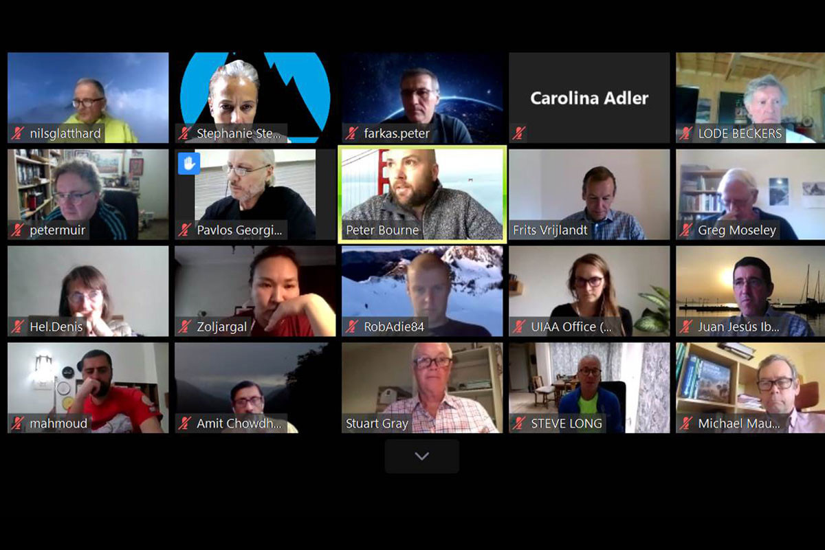 UIAA hold Management Committee meeting online