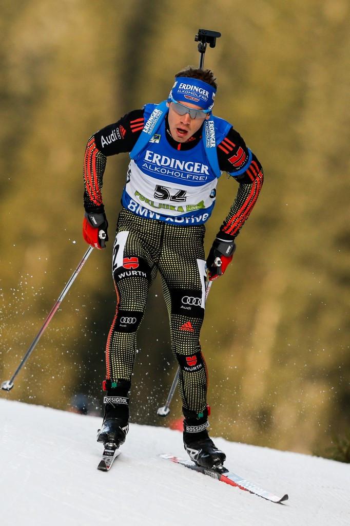 Simon Schempp on his way to victory in Pokljuka ©Getty Images
