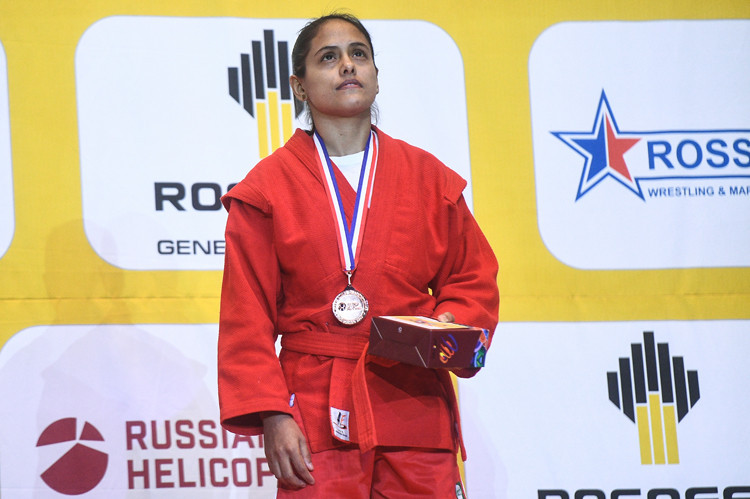 Luisaigna Campos has won multiple world and Pan American sambo titles ©FIAS