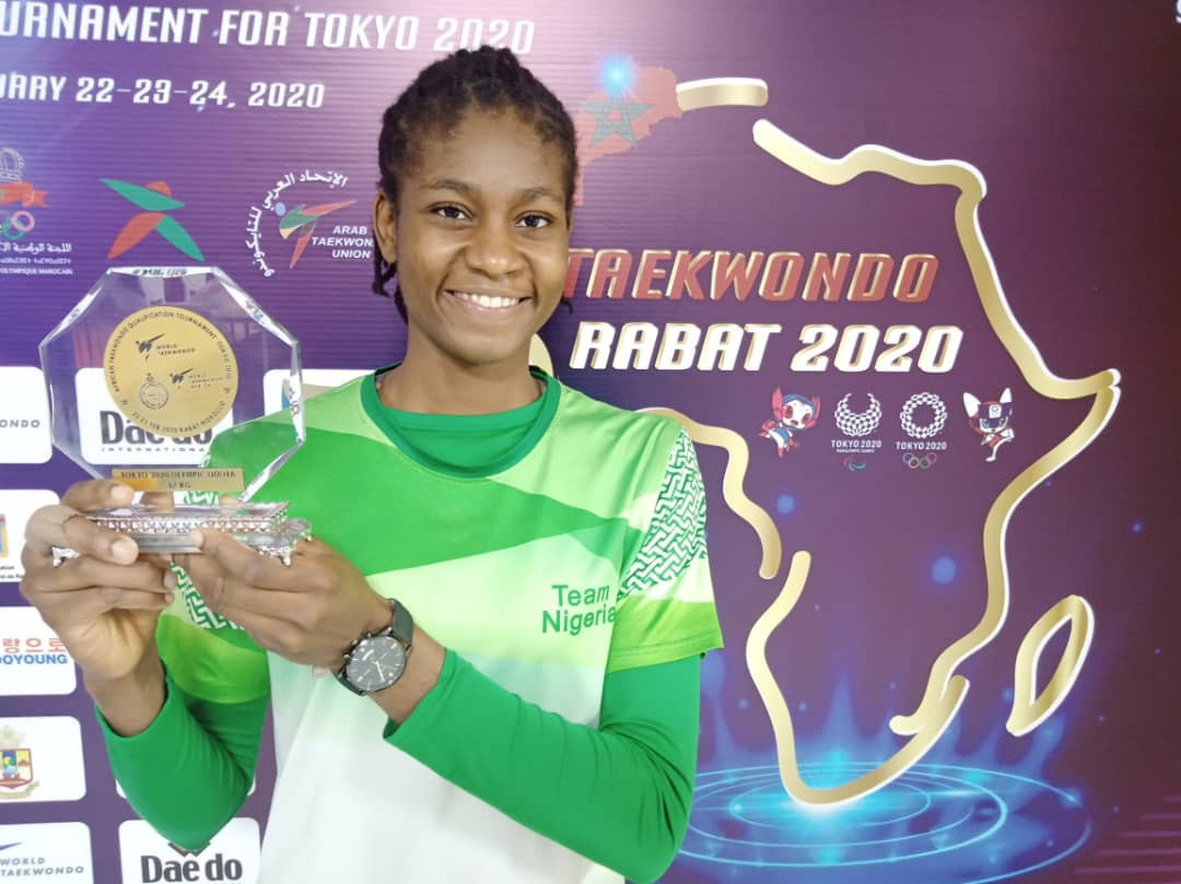 Up-and-coming Nigerian taekwondo athlete thankful for the sport's opportunities