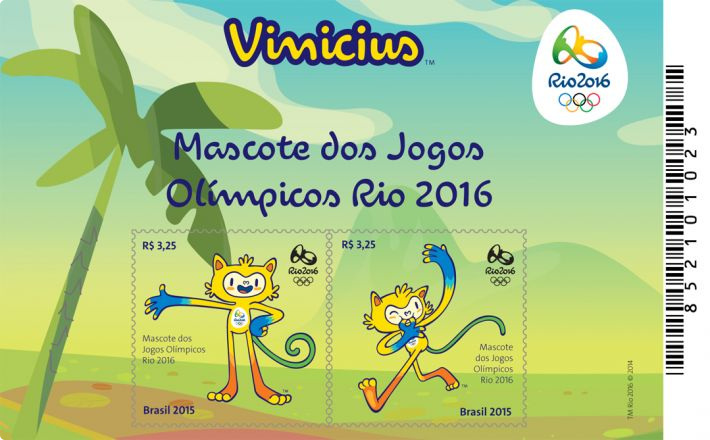 Olympic and Paralympic mascots feature in last batch of Rio 2016 stamps