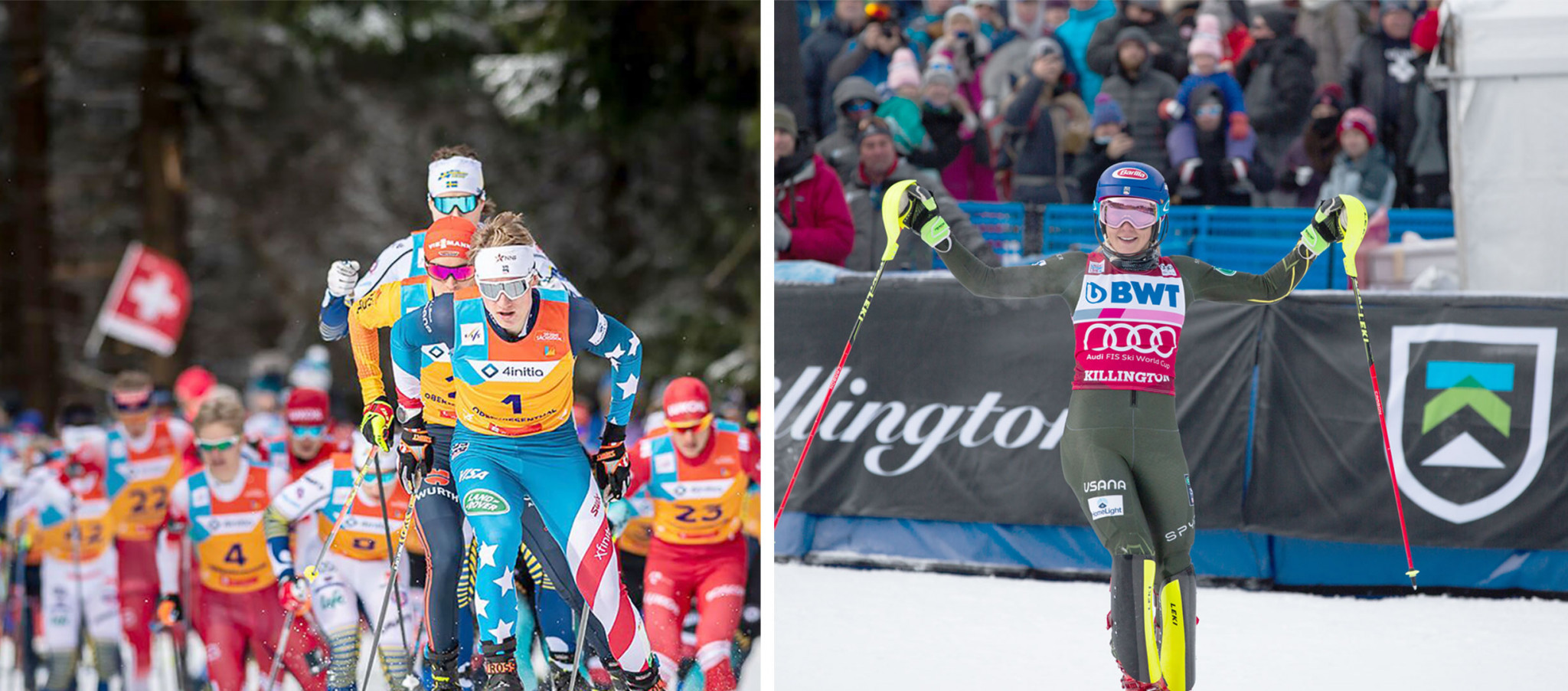 Gus Schumacher and Mikaela Shiffrin were are only the second joint recipients of the Beck International Award ©US Ski and Snowboard