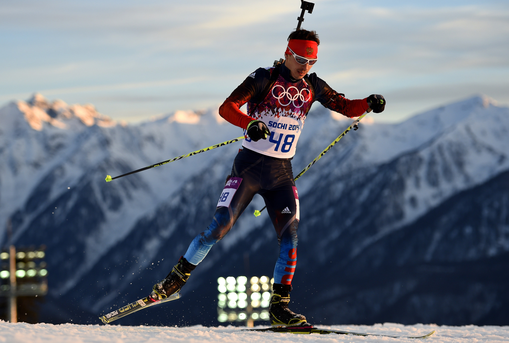 Evgeny Ustyugov earned team relay gold at the Sochi 2014 Winter Olympic Games ©Getty Images