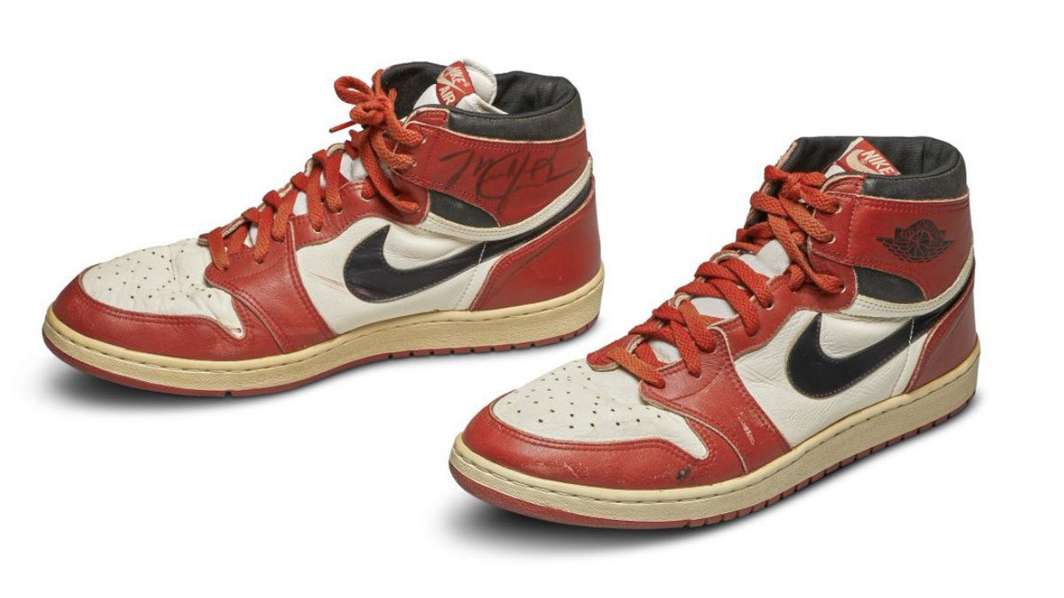 Trainers worn by double Olympic basketball champion Jordan sell for record amount at auction