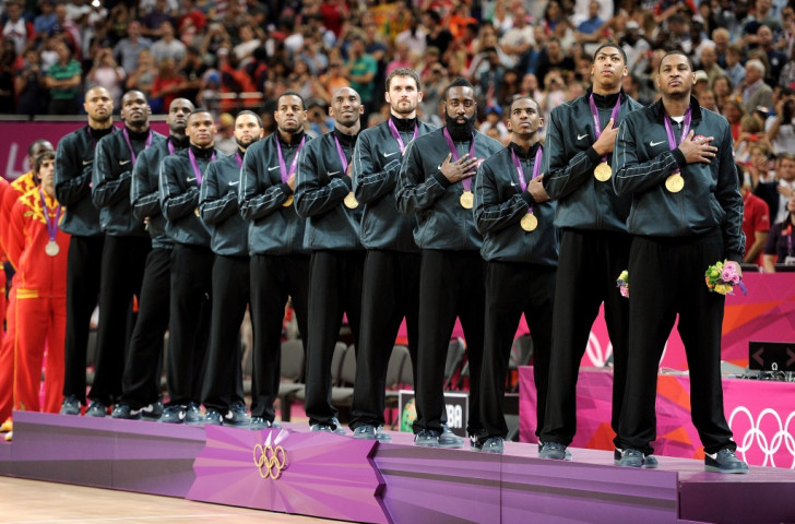 Kobe Bryant was part of the US team that successfully defended its Olympic title at London 2012