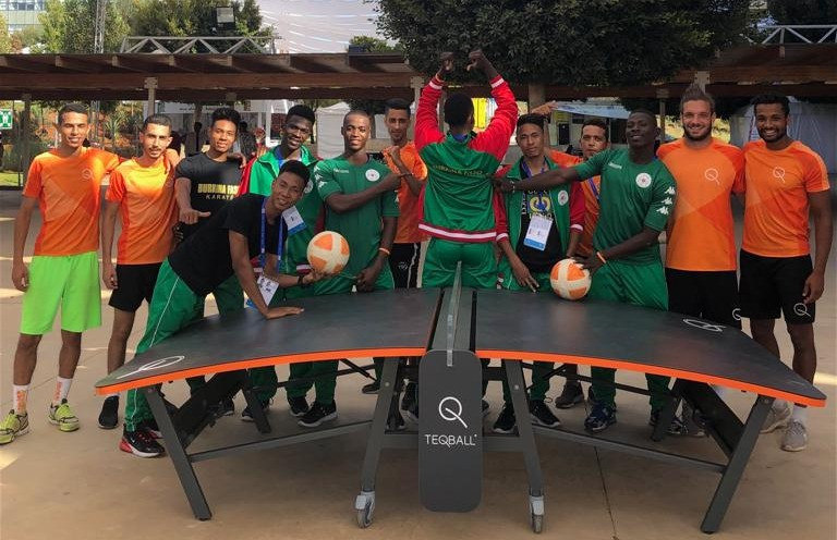 Teqball was a demonstration sport at the 2019 African Beach Games ©FITEQ