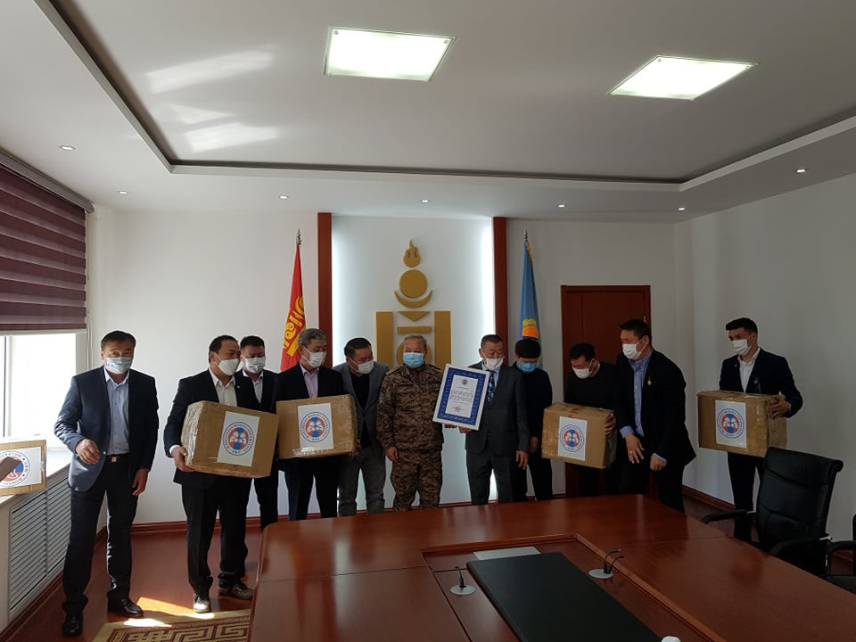 Mongolian Boxing Federation provide equipment during COVID-19 pandemic