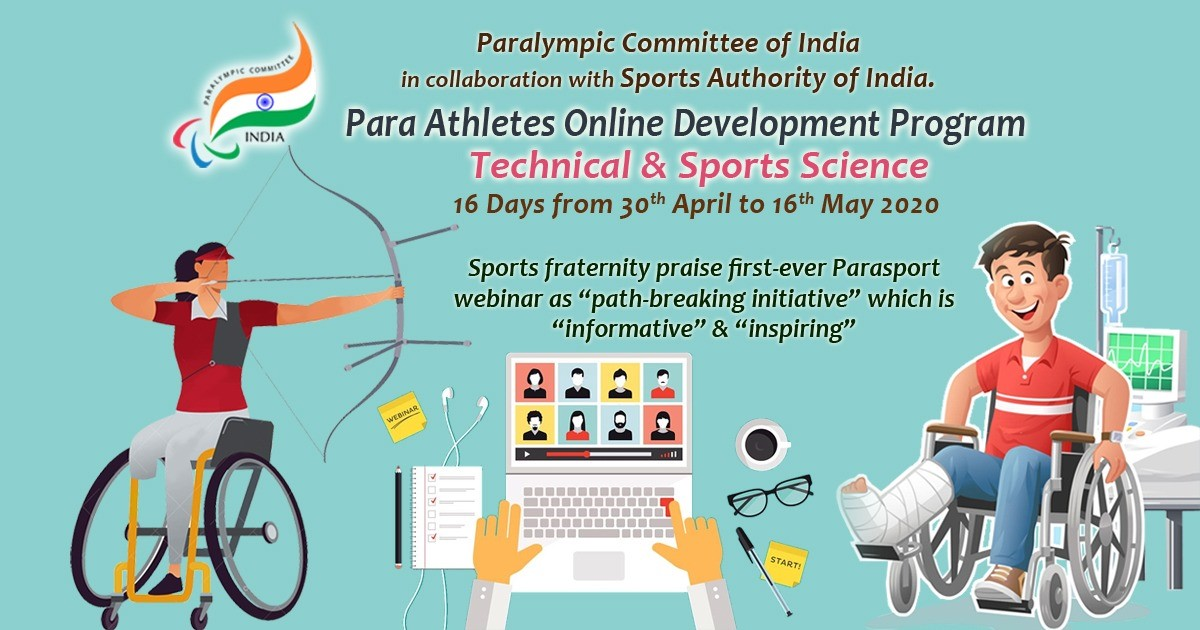 The PCI held a 16-day webinar on Para-sport ©PCI