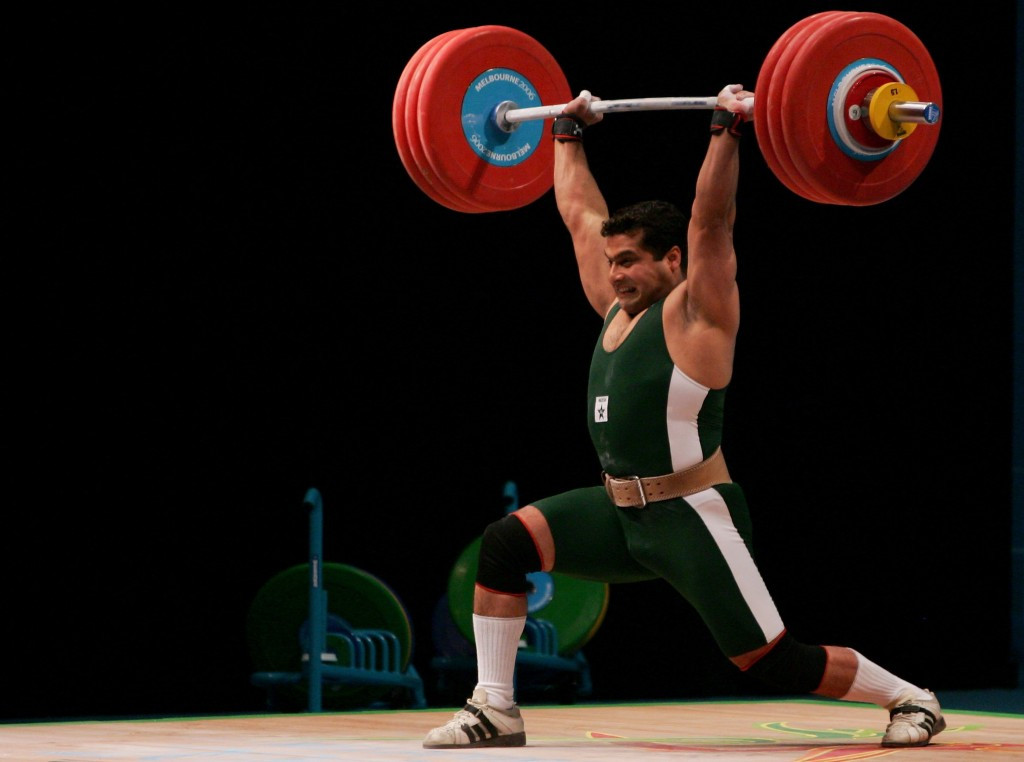 Pakistan's Shuja-Ud-Din Malik won gold in the men's 85kg combined event at the Melbourne 2006 Commonwealth Games
