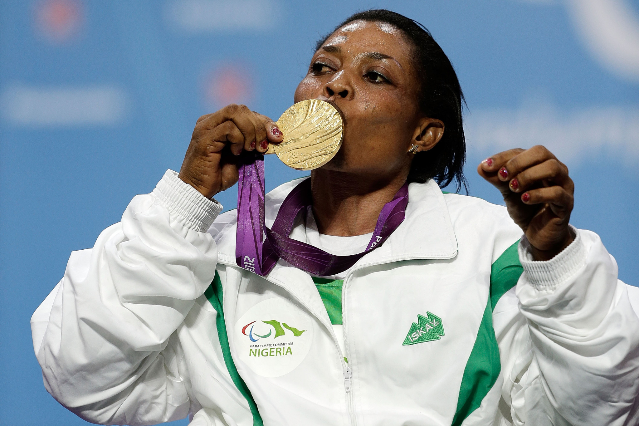 Paralympic powerlifting champion at London 2012 Esther Oyema has been banned for four years for committing an anti-doping rule violation ©Getty Images