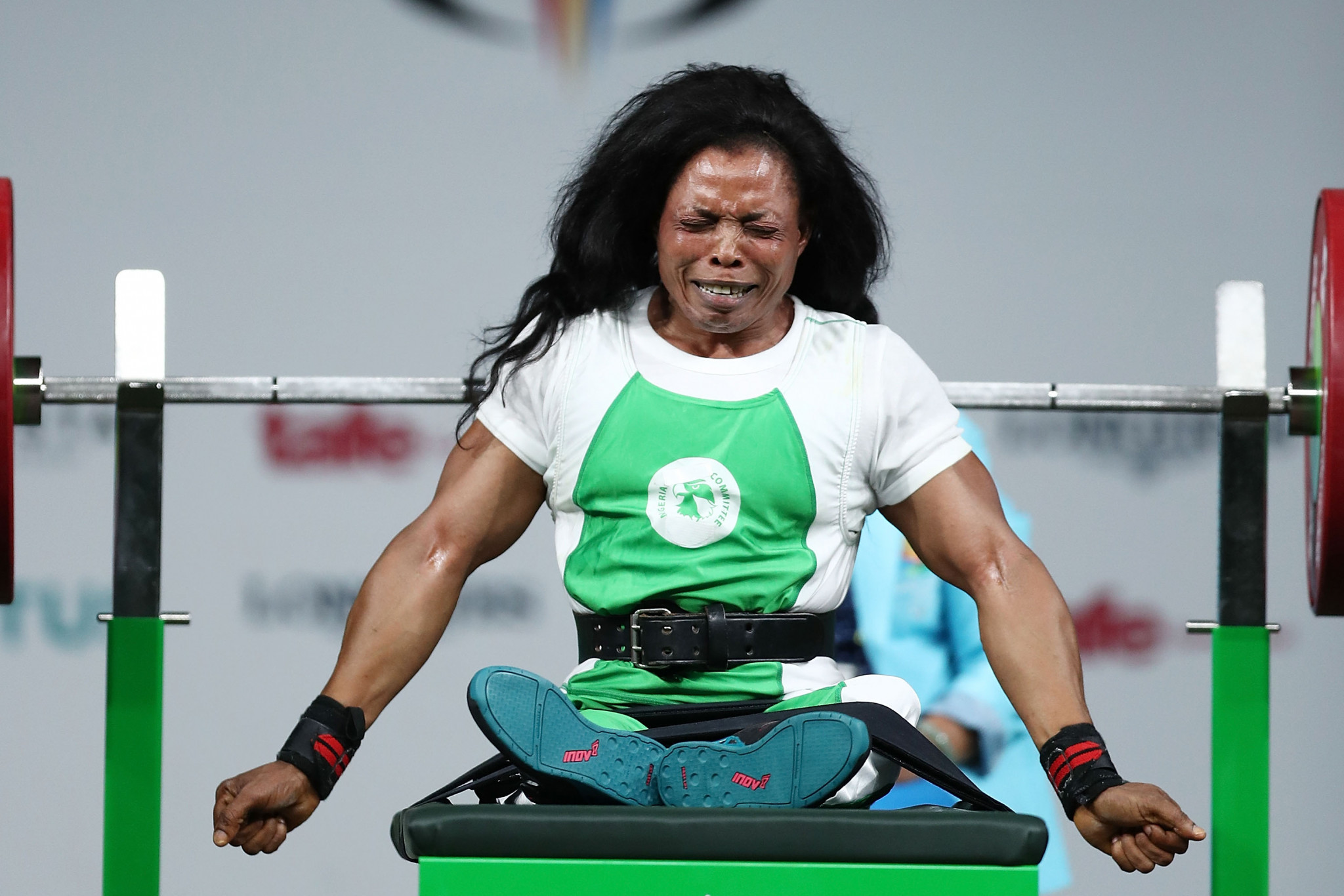 Oyema won gold medals at three consecutive Commonwealth Games, including at Gold Coast 2018 thanks to a world record lift ©Getty Images
