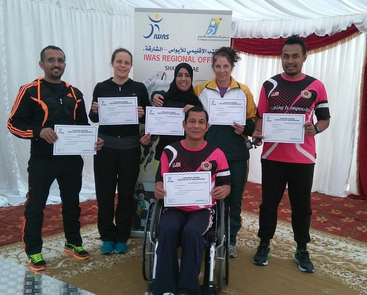 """IWAS holds """"successful"""" wheelchair fencing training courses in United Arab Emirates"""