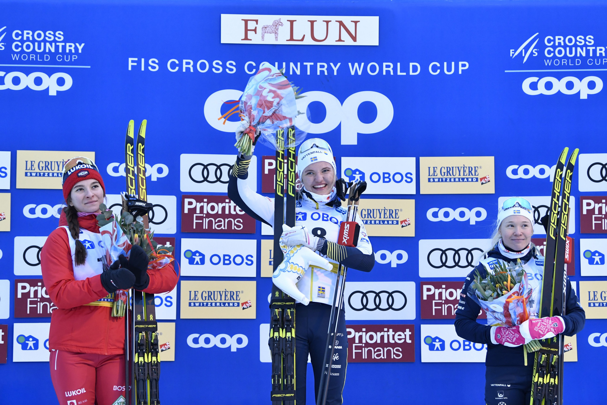 Linn Svahn, winner of the women's sprint discipline during last season's FIS Cross-Country World Cup, has been named in the Swedish first team ©Getty Images