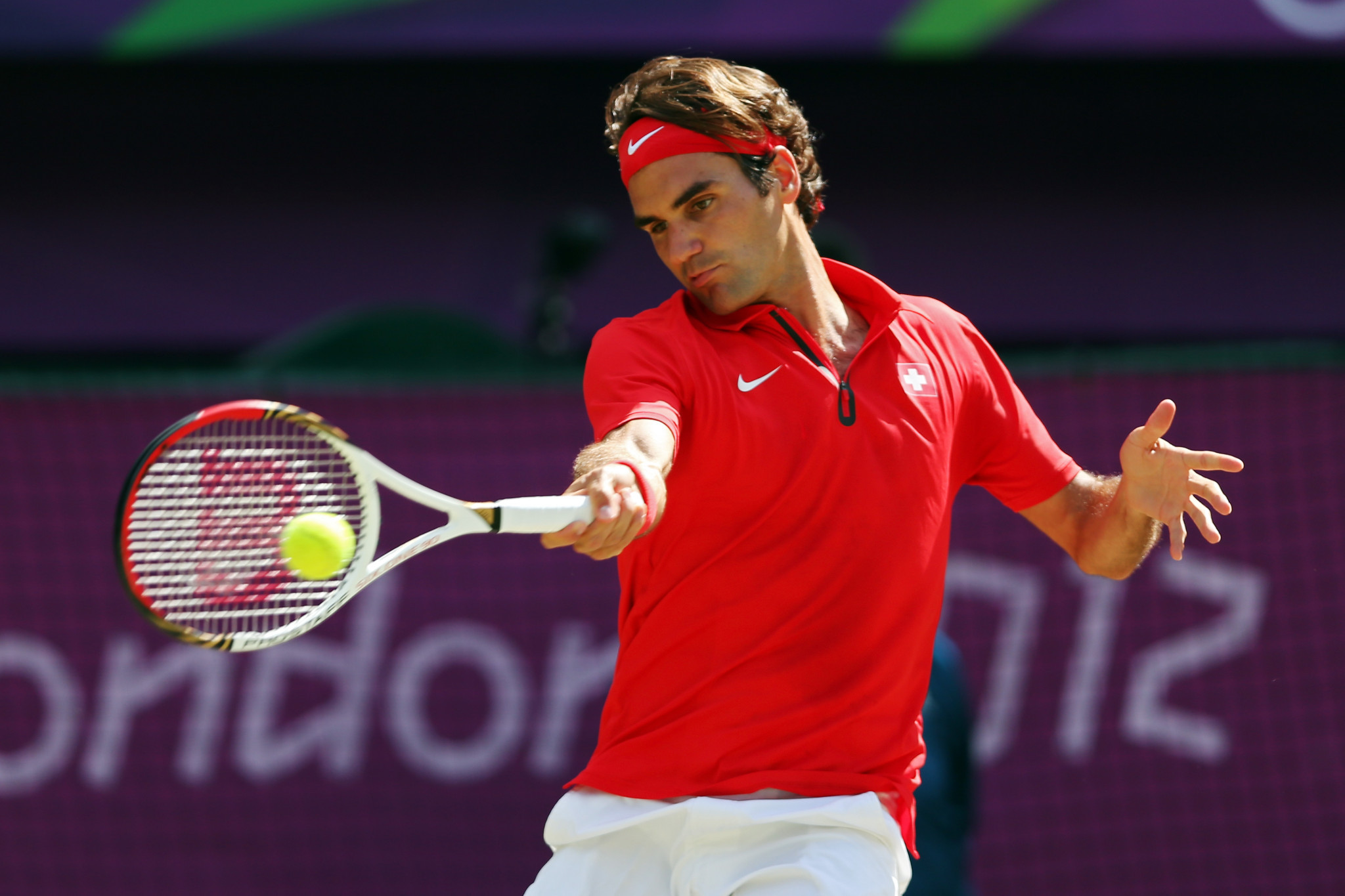 Roger Federer earned an Olympic silver medal in the singles competition at London 2012 ©Getty Images