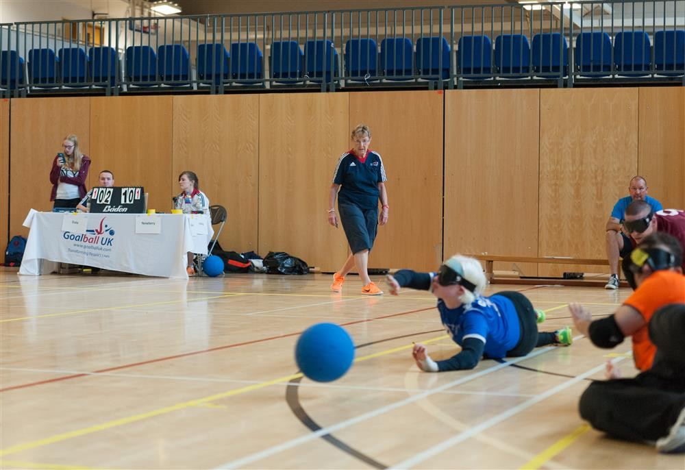 Goalball UK official Dina Murdie has launched a fundraising challenge ©Goalball UK