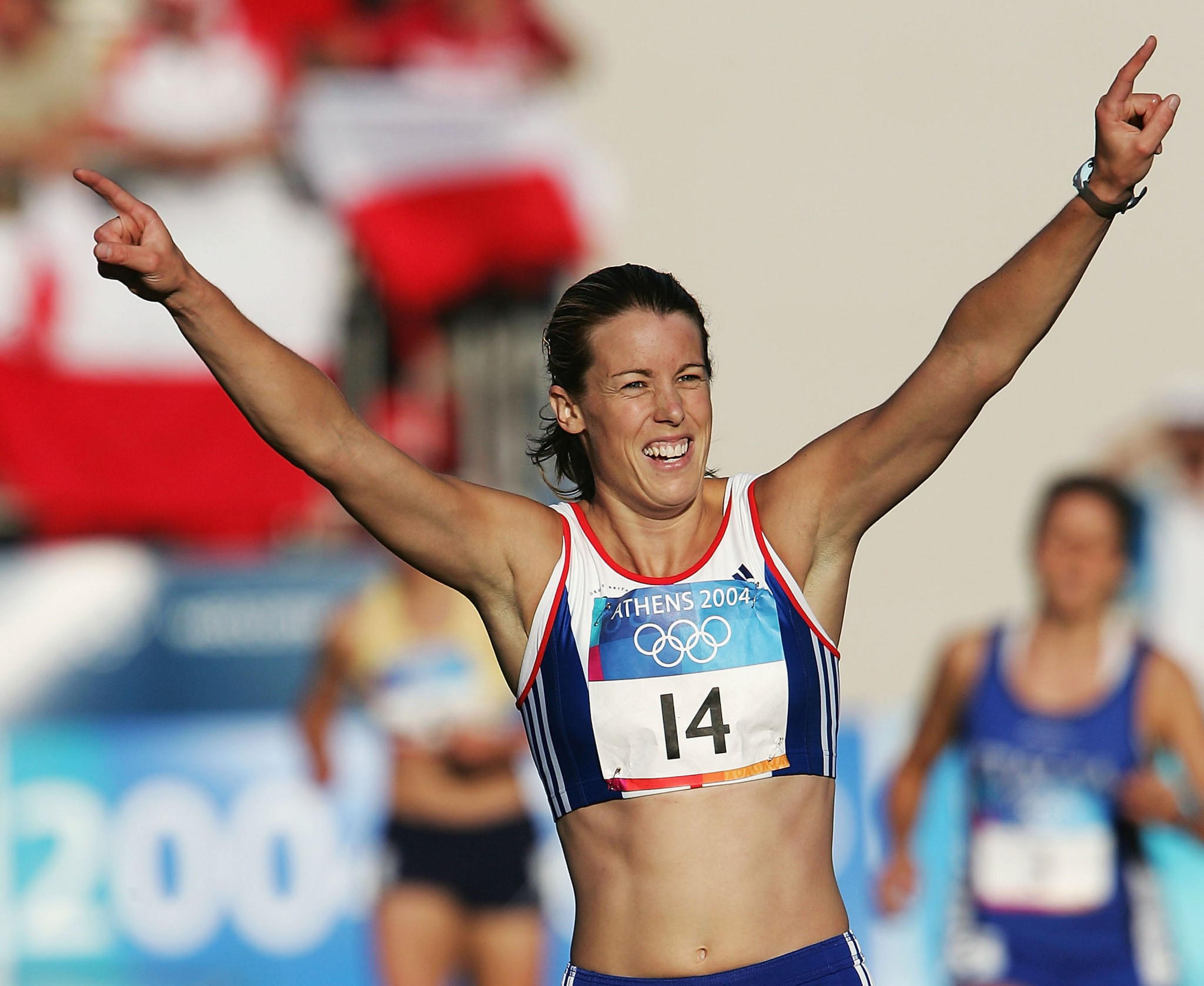 Georgina Harland has enjoyed Olympic success as an athlete, winning bronze in the women's modern pentathlon event at Athens 2004 ©Getty Images