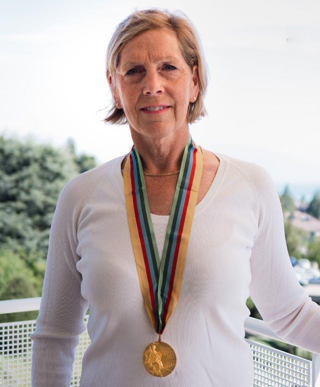 Michelle Ford at home with her gold medal ©Michelle Ford