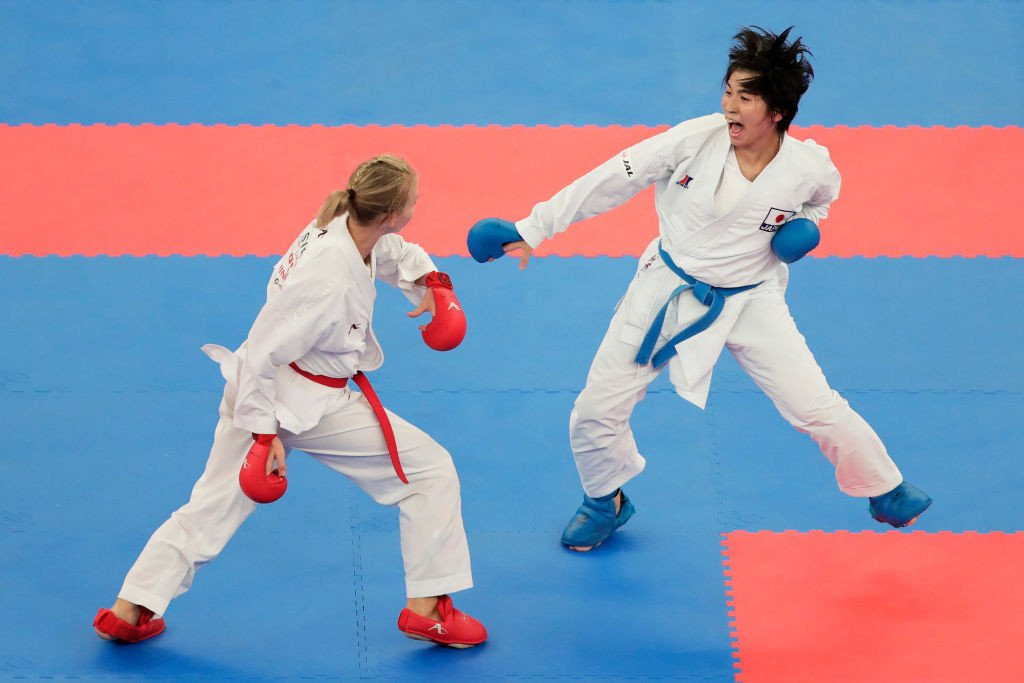 Mayumi Someya, right, is also set to be impacted by the WKF decision ©Getty Images