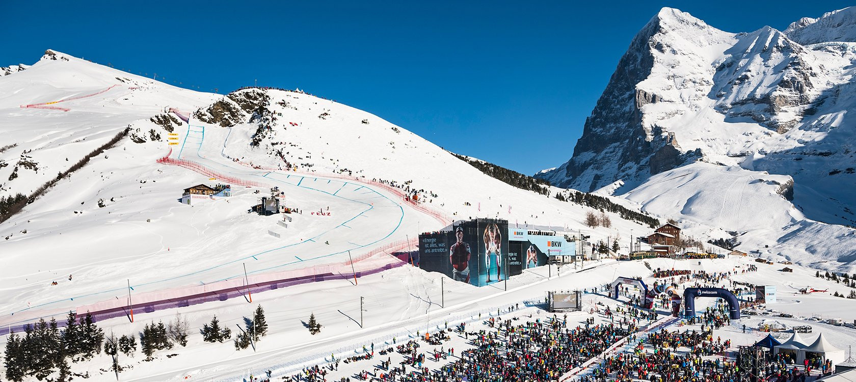 Organisers of the Lauberhorn race in Wengen are currently in a dispute with Swiss Ski ©Swiss Ski