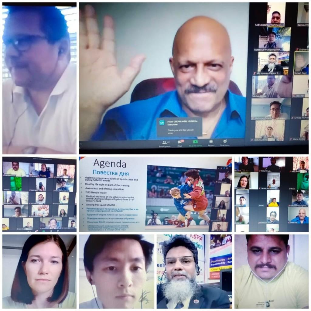 The first online anti-doping session was held for the Sambo Union of Asia ©FIAS