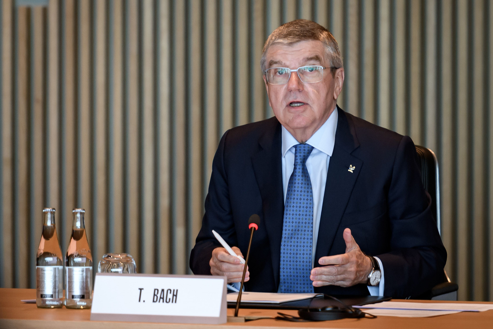 International Olympic Committee President Thomas Bach consulted with members on the consequences of the coronavirus pandemic ©Getty Images
