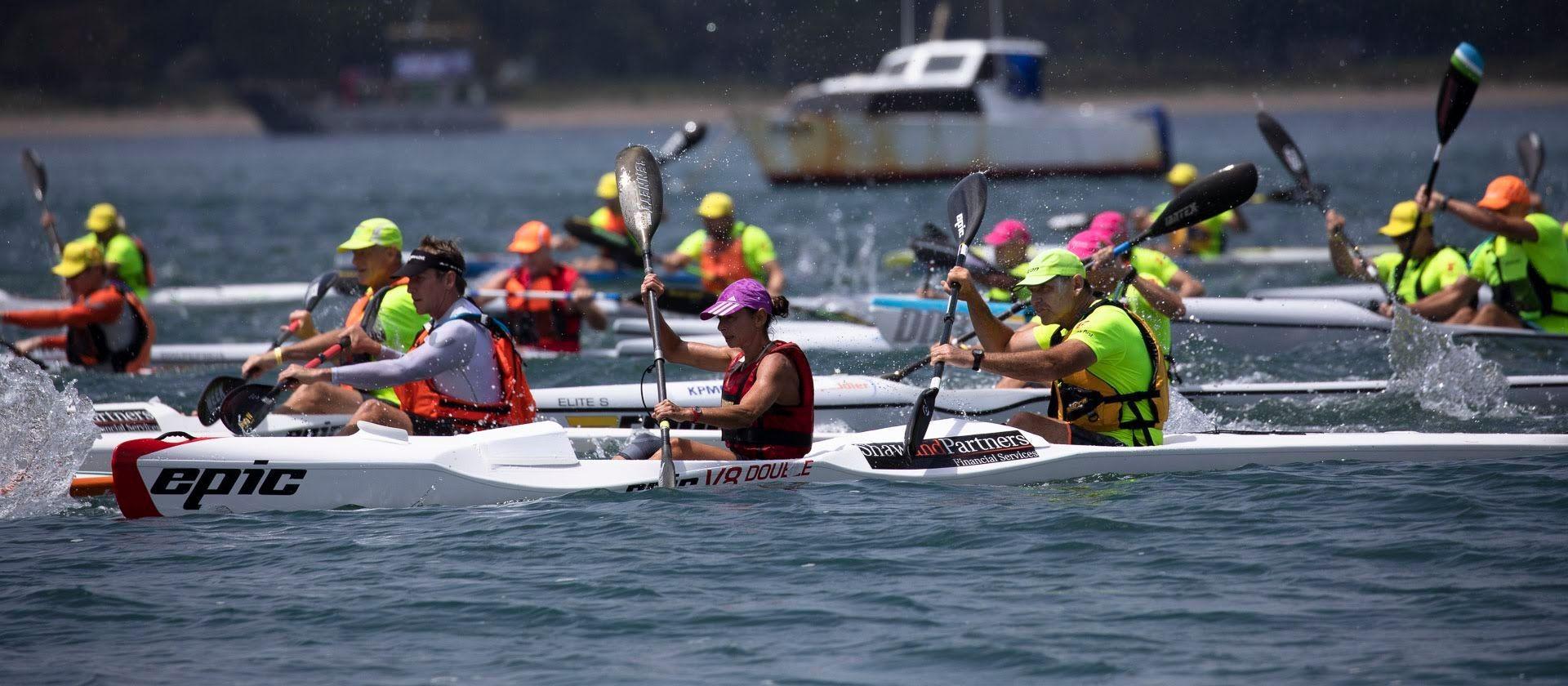 Mandurah will also host the 2023 Paddle Australia Canoe Ocean Racing Championships ©Paddle Australia/Allan Coker