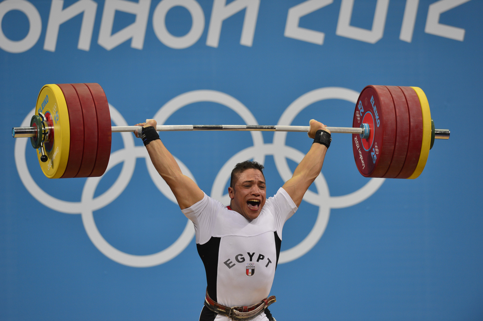 Abdelhay Saad Abdelrazek Ragab won one of two weightlifting medals for Egypt at London 2012, where Khaled Korany coached the team ©Getty Images