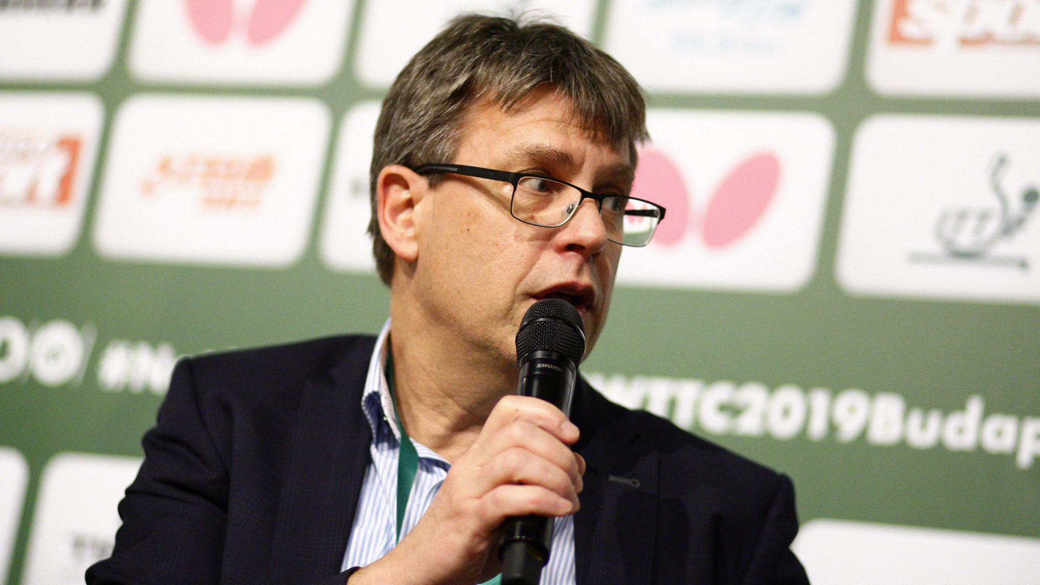 ITTF President Thomas Weikert welcomed participants to the World Table Tennis webinar ©Getty Images
