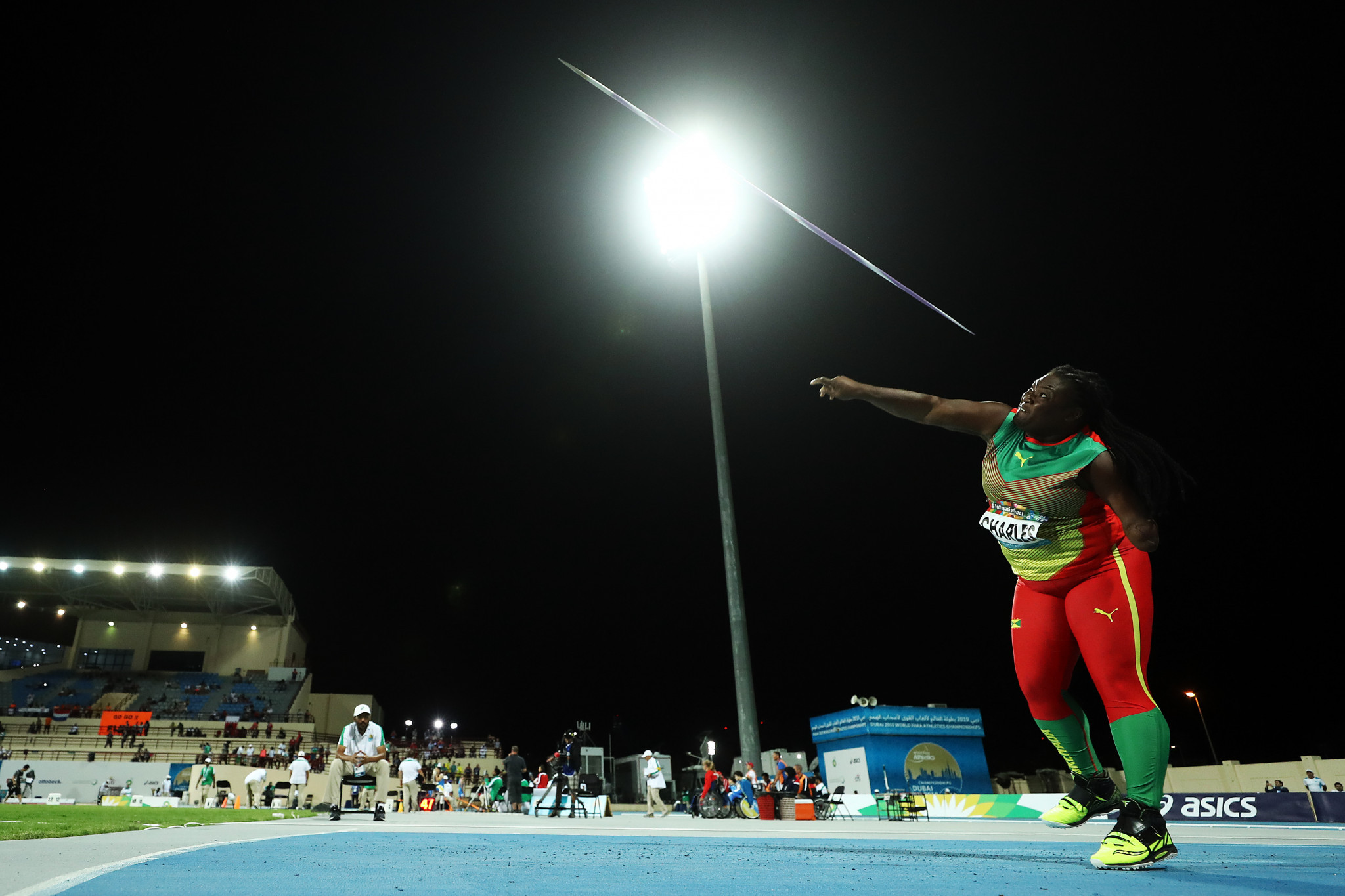 Ishona Charles finished 13th in the women's F46 javelin competition at the World Para Athletics Championships in Dubai last year ©Getty Images