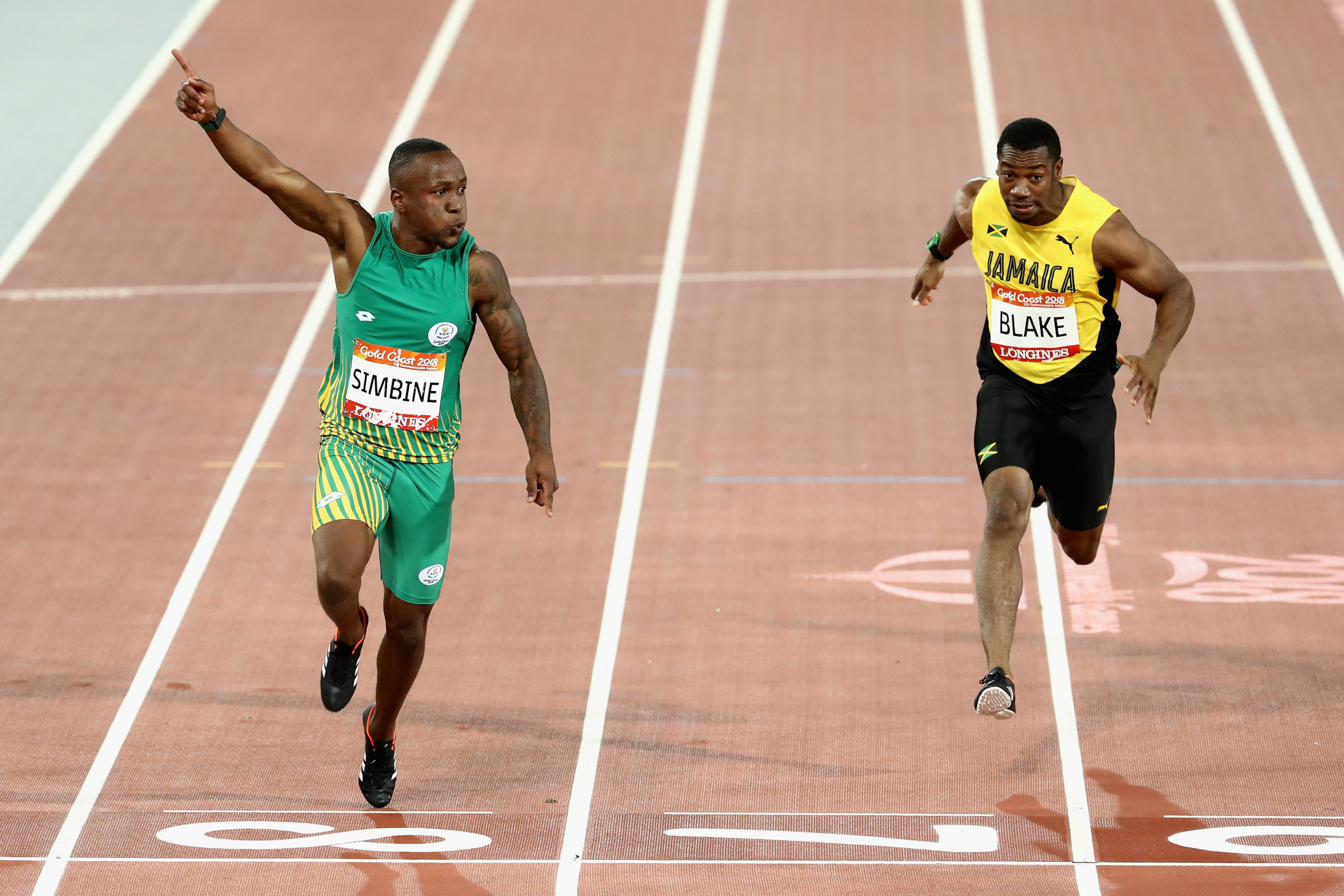 Akani Simbine is the Commonwealth Games 100m champion ©Getty Images