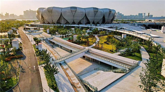 An underground complex is set to connect the Hangzhou Olympic and International Expo Centre and other venues for the 2022 Asian Games ©Hangzhou 2022