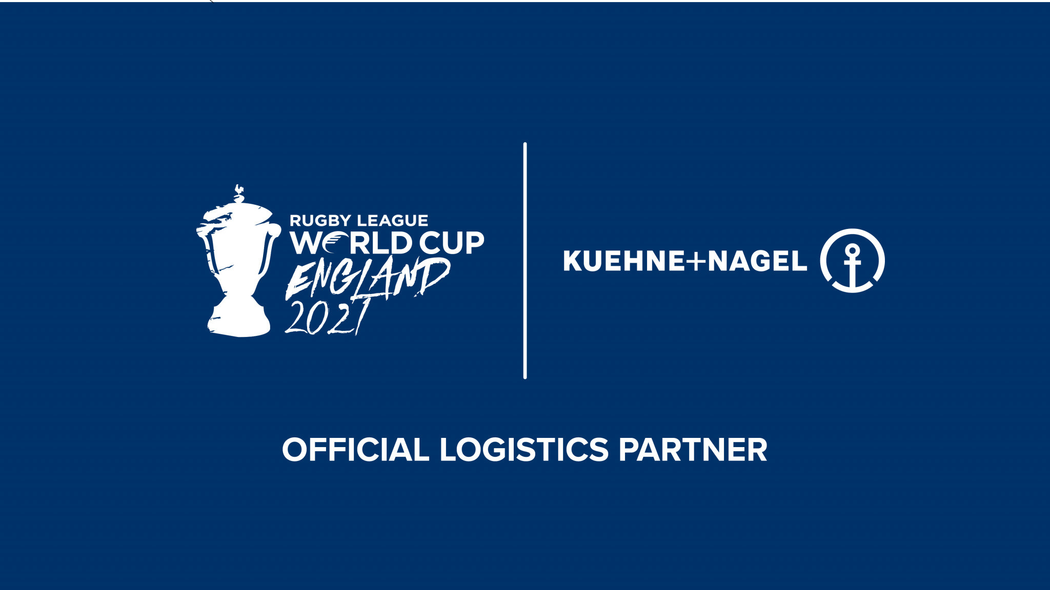 Global transport and logistics company Kuehne+Nagel has been announced as the official logistics partner for the Rugby League World Cup 2021 ©RLWC2021