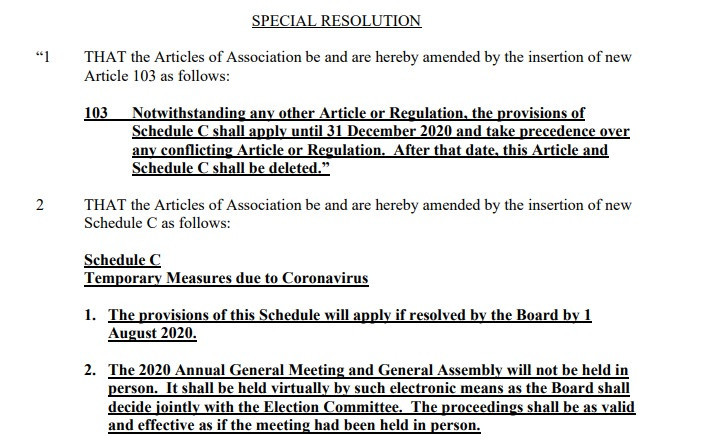 The resolution - which will be triggered if World Sailing decides on a virtual AGM - has been sent to MNAs ©World Sailing
