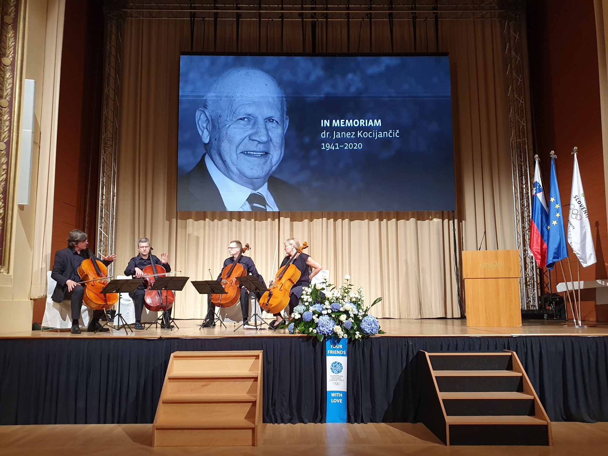 Olympic family pays tribute to EOC President Kocijancic at memorial service